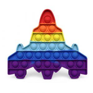 Rainbow spaceship Pop It Fidget Toy