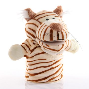 Tiger hand puppet - large