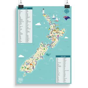 New Zealand Original Scratch Map