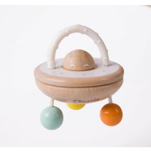 Wooden UFO Baby Rattle