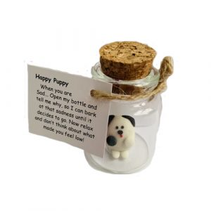 Happy Puppy Positivity Pet - Black and White
