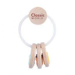 wooden keys baby rattle