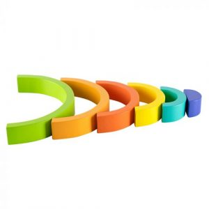 wooden rainbow stacking arch