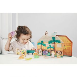 wooden wild animal play and tell