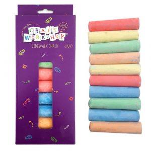 Sidewalk Coloured Chalk 10 pack