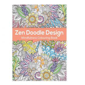 Zen doodle design mindfulness colouring book
