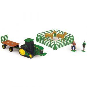 john deere mini 10pc farm set with light horses