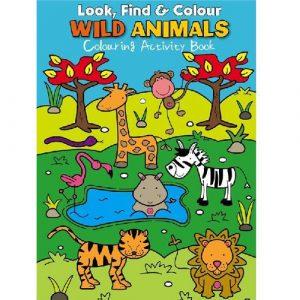 look find colour wild animals activity book